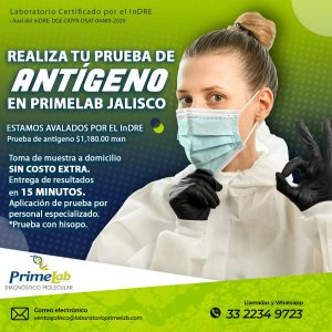 Prueba Antígeno – Jalisco (A domicilio)